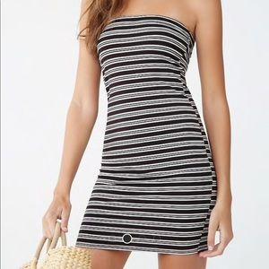 Multicolored Striped Tube Dress